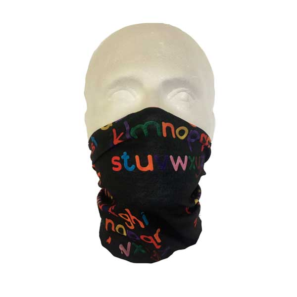 Alphabet Neck Tube Bandana
