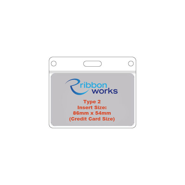Type 2 PVC Wallet - Credit Card Size - 86mm x 54mm