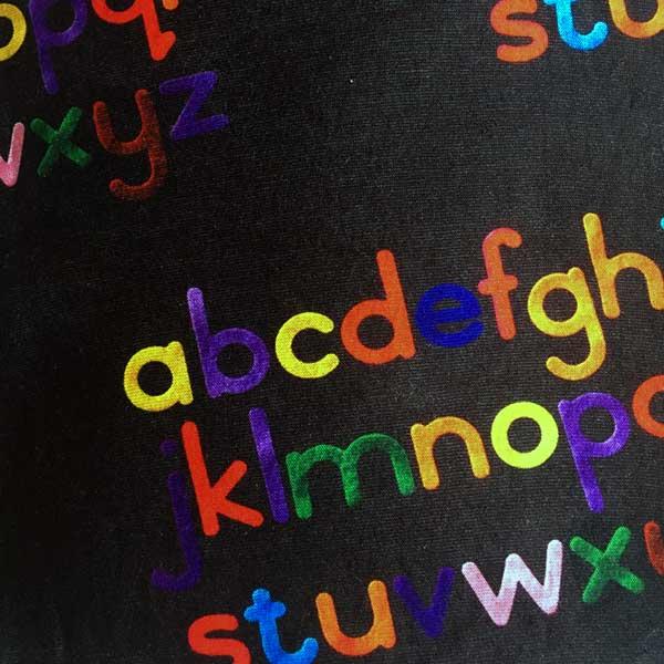 Alphabet Neck Tube - Print Detail