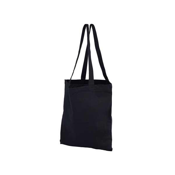 Black Coloured Cotton Shopped Bag