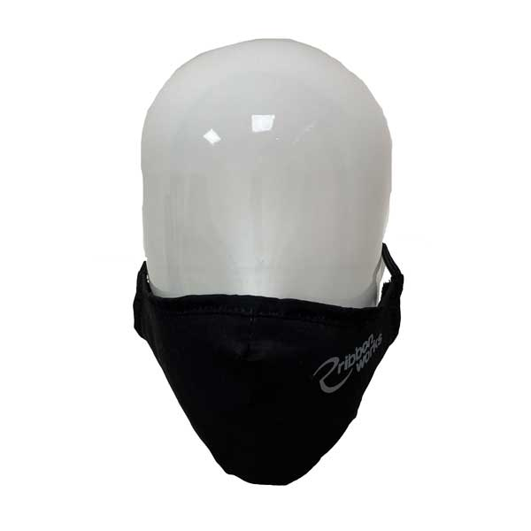 Full Colour Printed Poly Cotton Face Mask - Front View