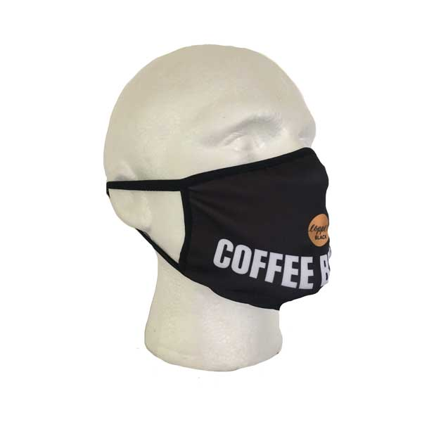 Custom Branded Cloth Face Mask - Side View