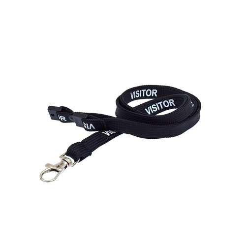 Black Visitor Lanyard