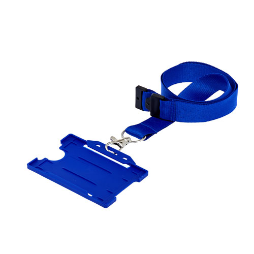 Blue Landscape ID Card Holder On A Lanyard (Lanyard Not Included)