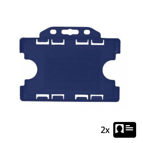 Blue Landscape ID Card Holder - Holds Two ID Cards