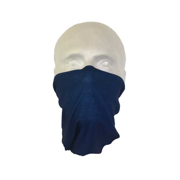 Blue Neck Tube Worn As A Face Mask