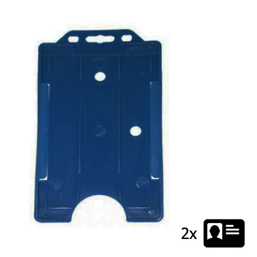 Blue Portrait ID Card Holder - Holds Two ID Cards