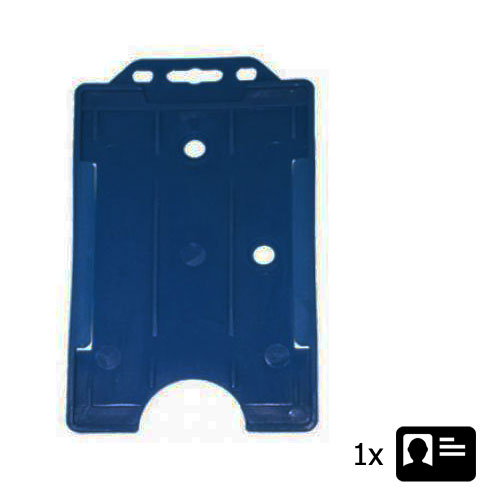 Blue Portrait ID Card Holder - Holds One ID Card