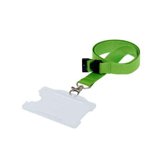 Clear ID Card Holder on a Lanyard (Lanyard Not Included)