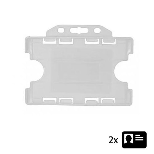 Clear Landscape ID Card Holder - Holds Two ID Cards