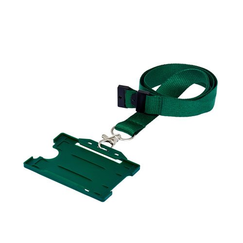 Green Landscape ID Card Holder On A Lanyard (Lanyard Not Included)