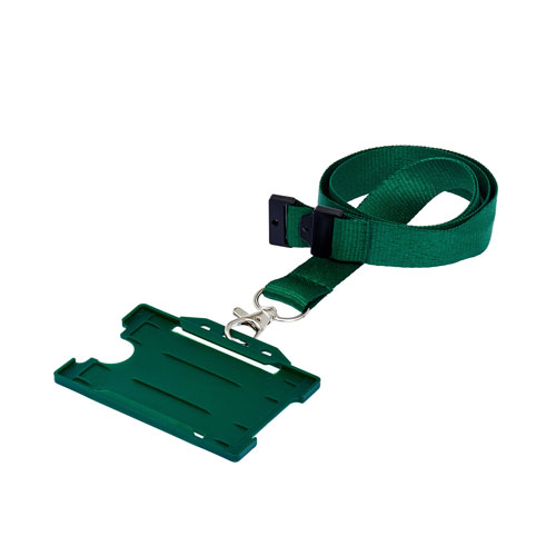 Green ID Card Holder on a Lanyard (Lanyard Not Included)