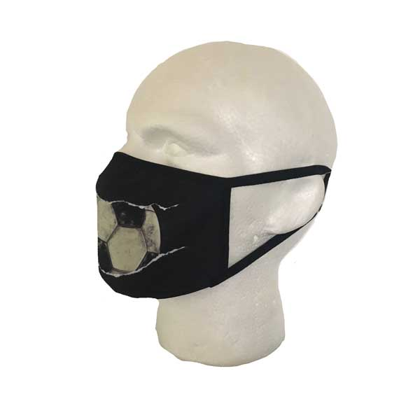 Football Cloth Face Mask - Side View