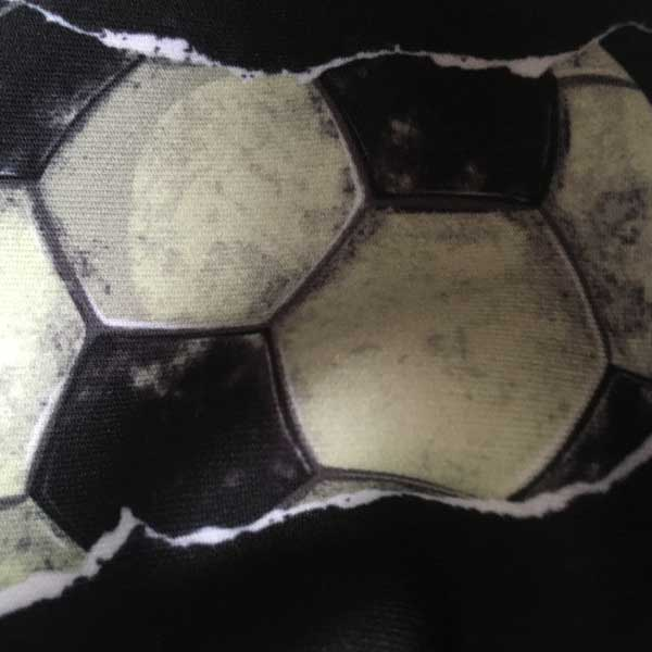 Football Cloth Face Mask - Detail Showing Print