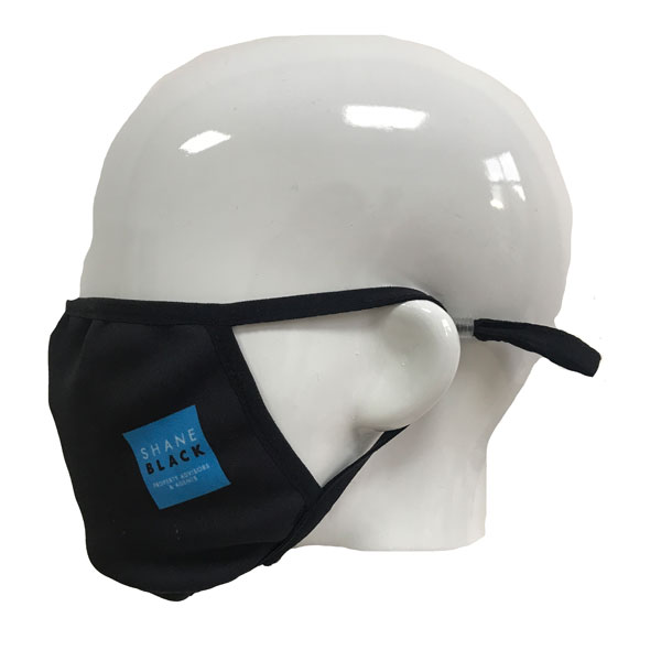 Full Colour Printed Face Mask - Side View