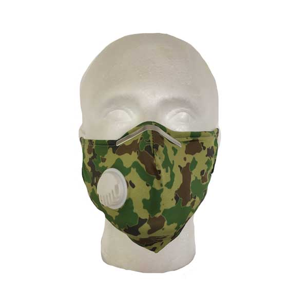 Green Camouflage Mask - Front View