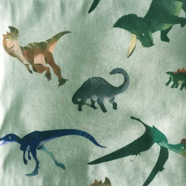 Green Dinosaur Neck Tube - Print Detail