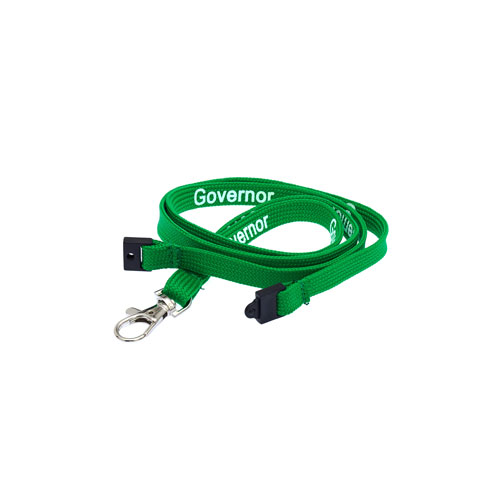 Green Governor Lanyard - White Text