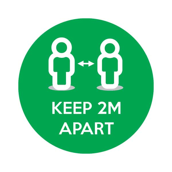 Keep 2m Apart Social Distancing Floor Sticker
