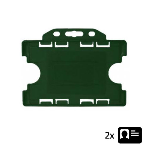 Green Landscape ID Card Holder - Holds Two ID Cards