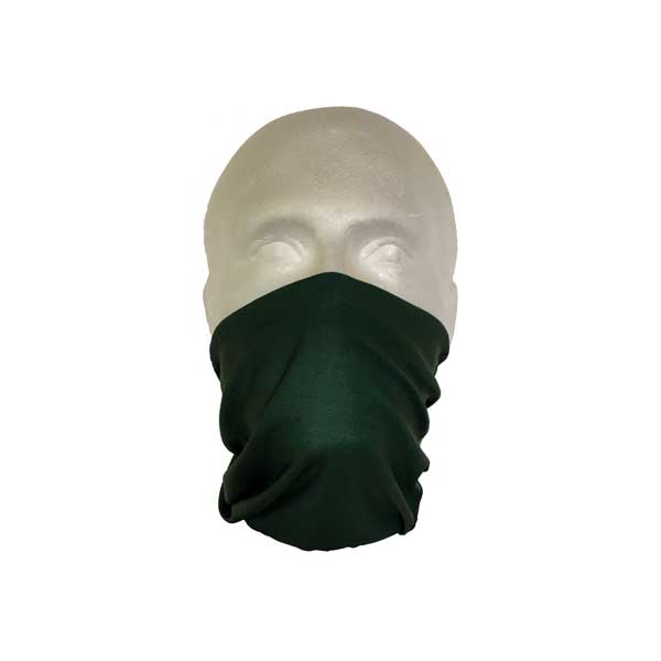 Green Neck Tube Worn As A Face Mask