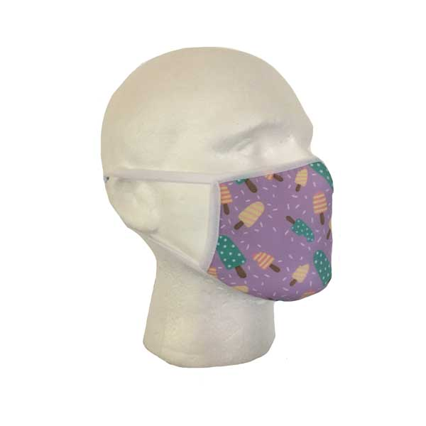 Ice Lolly Cloth Face Mask - Side View