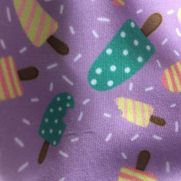 Ice Lolly Cloth Face Mask - Detail Showing Print