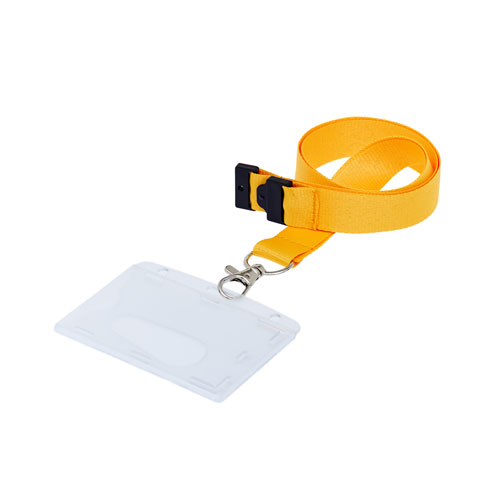 Landscape Fully Enclosed ID Card Holder On A Lanyard (Lanyard Not Included)