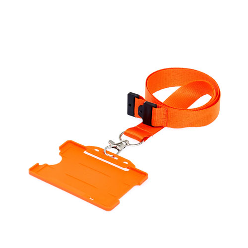 Orange ID Card Holder on a Lanyard (Lanyard Not Included)