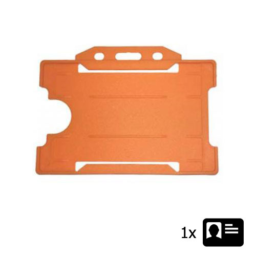 Orange Landscape ID Card Holder - Holds One ID Card