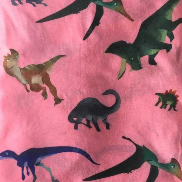 Pink Dinosaur Neck Tube - Print Detail