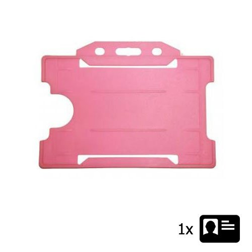 Pink Landscape ID Card Holder - Holds One ID Card