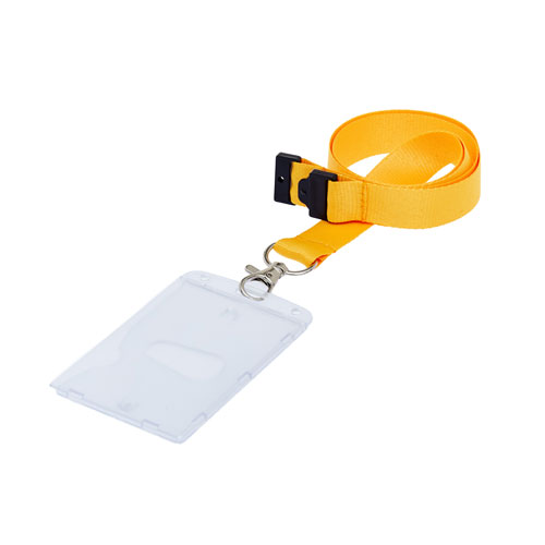 Portrait Fully Enclosed ID Card Holder On A Lanyard (Lanyard Not Included)