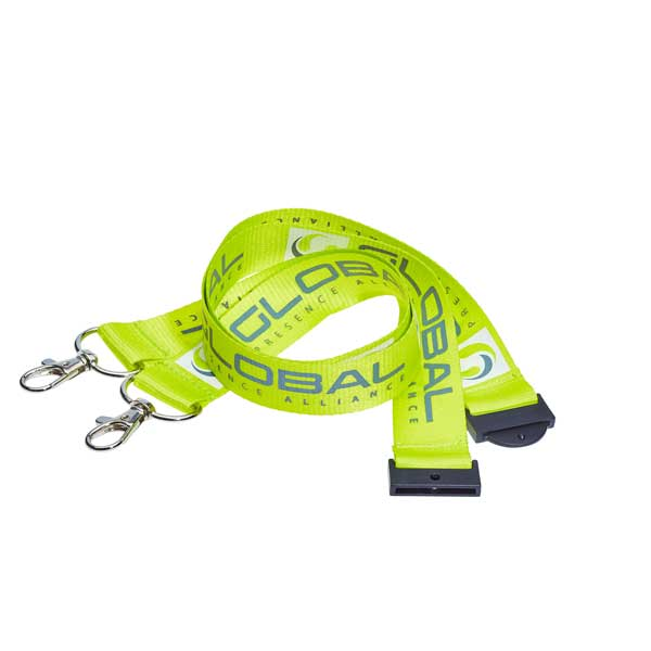 Custom Printed Double Clip Lanyard