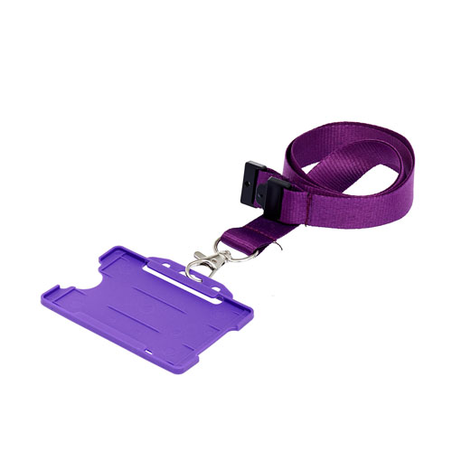 Purple ID Card Holder on a Lanyard (Lanyard Not Included)