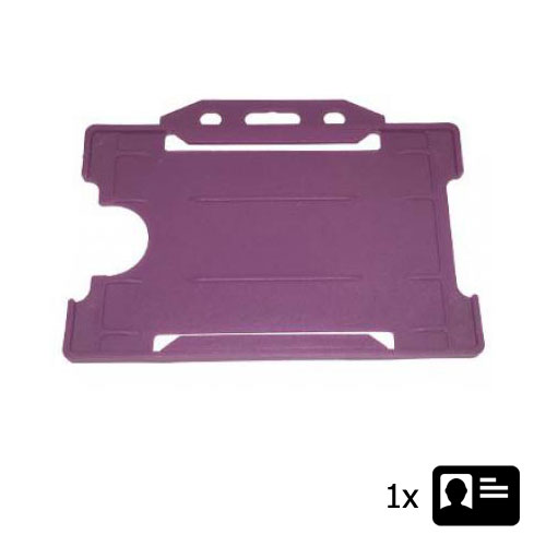 Purple Landscape ID Card Holder - Holds One ID Card