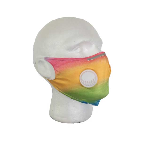 Rainbow Cloth Face Mask - Side View