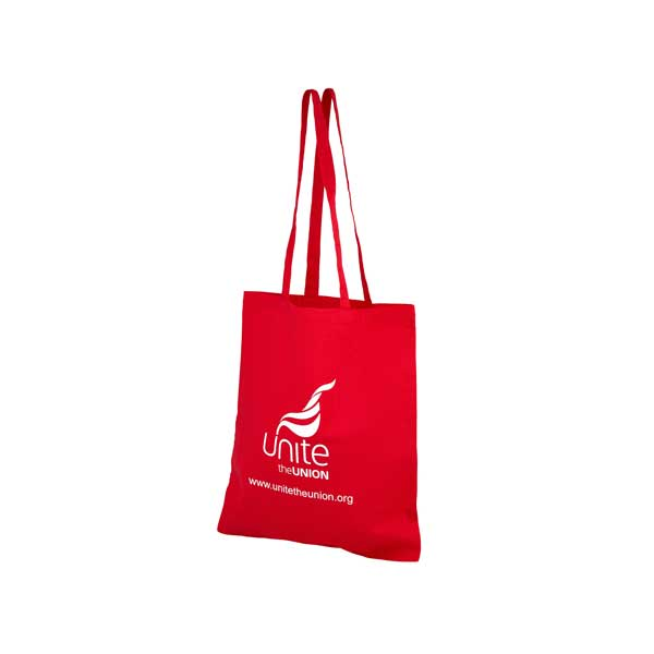 Red Coloured Cotton Shopped Bag