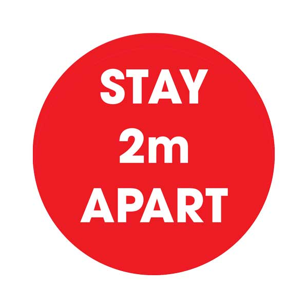 Stay 2m Apart Social Distancing Floor Sticker