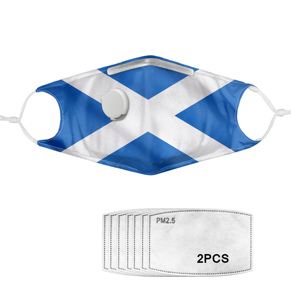 Saltire Cloth Face Mask + 2 Pm2.5 Filters