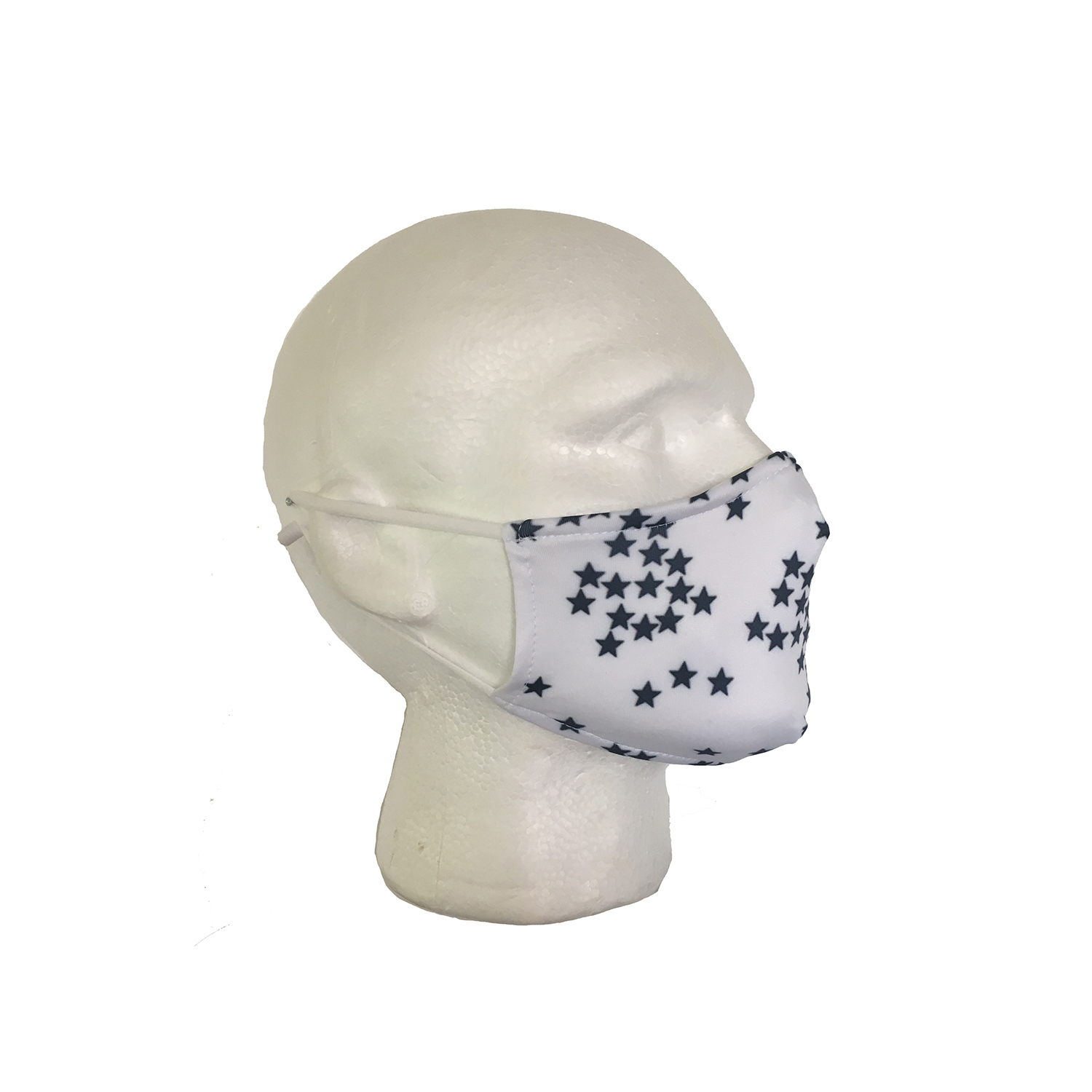Stars Cloth Face Mask - Side View