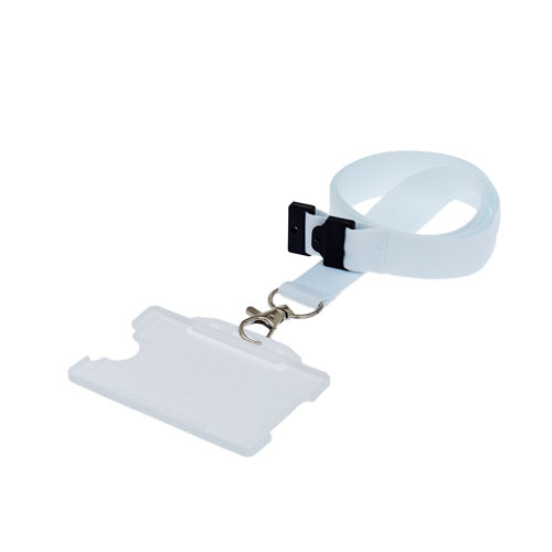 White Landscape ID Card Holder On A Lanyard (Lanyard Not Included)