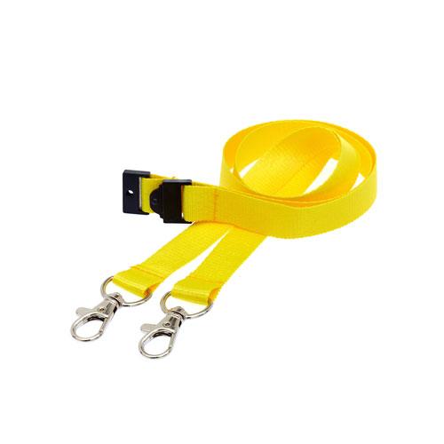 Yellow Doubleclip Lanyard