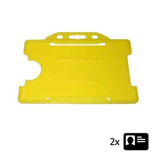 Yellow Landscape ID Card Holder - Holds Two ID Cards