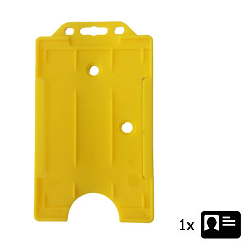 Yellow Portrait ID Card Holder - Holds One ID Card