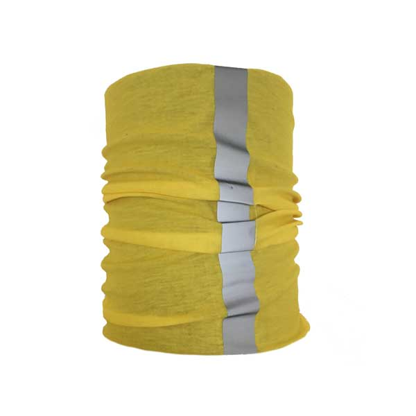 Yellow Reflective Neck Tube Showing Hi-Vis Strip