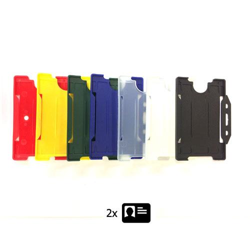 Rigid Plastic ID Holder - Double ID Landscape - Plastic ID Cardholders